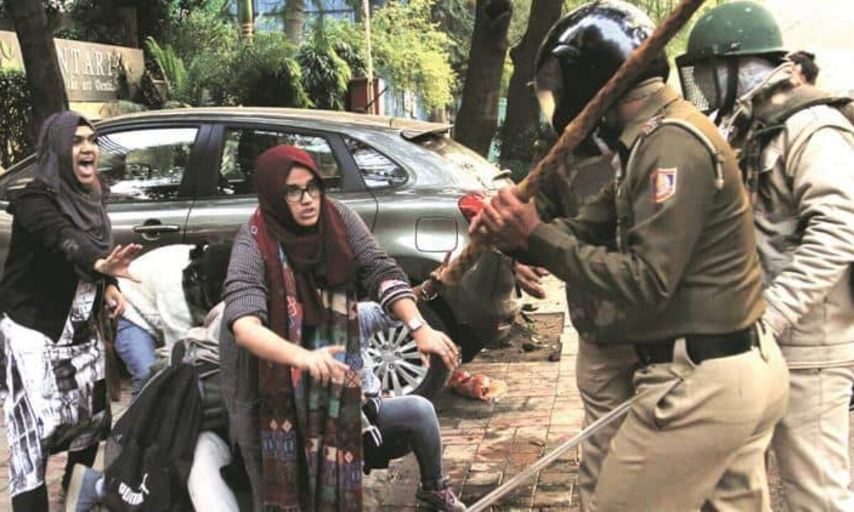 Students, civil society stand against police brutality at Jamia