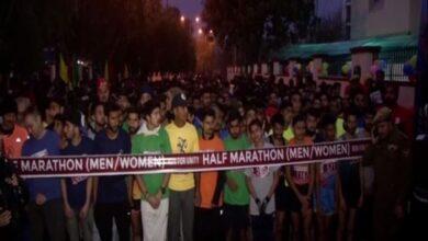 Photo of J-K: DGP Dilbagh Singh flags off 'Run for Unity' marathon