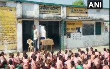 500gm Milk Powder diluted in water for 63 students, HM suspended