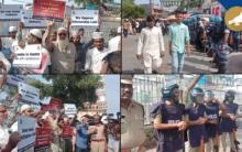 Hyderabad: Protest against CAB at Makkah Masjid