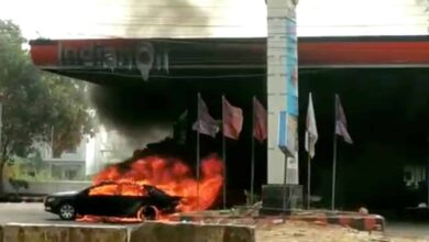 Photo of Shaikpet petrol pump catches massive fire