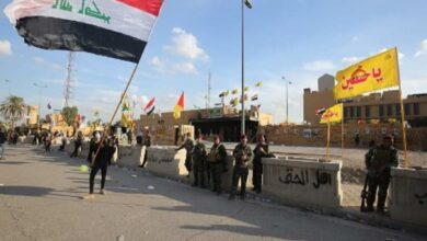 Photo of Pro-Iran protesters leave US embassy in Baghdad