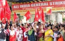Andhra bank shutdown in Bharat bandh