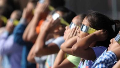 Photo of 15 youths suffer vision loss due to solar eclipse
