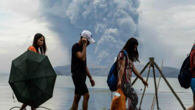 Photo of Philippines on alert as volcano spews ash, lava