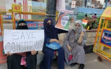 Protest against CAA-NRC-NPR at Necklace Road