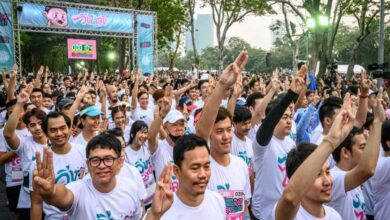 Photo of Anti-government fun run draws thousands of defiant Thais