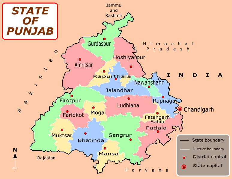 Map of Punjab