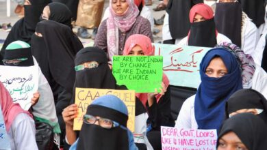 Photo of Protest against CAA-NRC and NPR at Unani hospital, Hyderabad