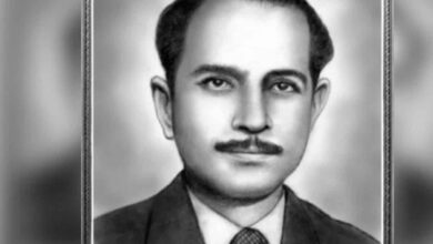 Photo of Abid Hassan Safrani, freedom fighter who gave Jai Hind slogan