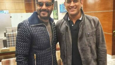 Photo of Ahead of Tanhaji release, Ajay Devgn meets MSD!