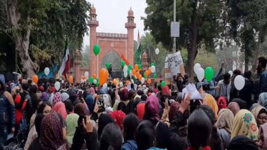 Photo of AMU students take out balloon march against CAA, NRC, NPR