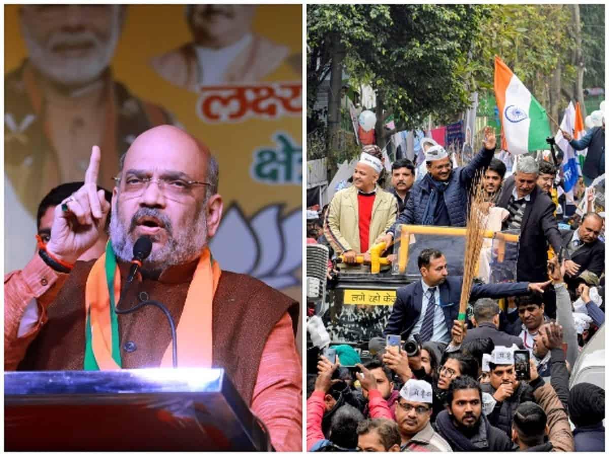 Delhi polls: Amit Shah and Arvind Kejriwal