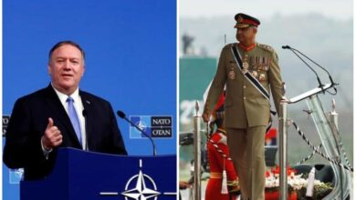 Photo of Michael Pompeo speaks to Bajwa over Qassem's killing