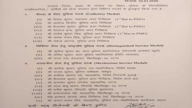 Photo of 20 Bihar police personnel conferred awards on Republic Day