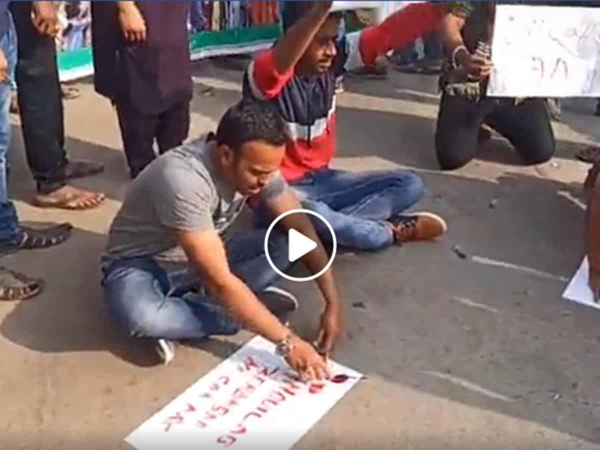 Youth Protesting against CAA NRC in Gulbarga