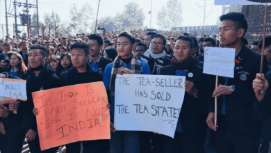Photo of Nagaland shutdown: Students protest against CAA, boycott classes