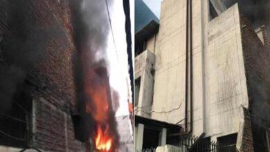 Photo of Two injured in Delhi's Mayapuri shoe factory fire