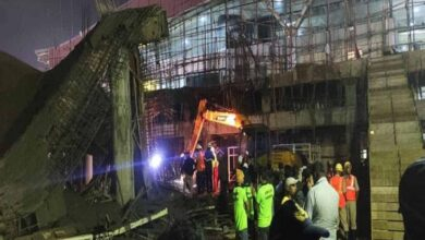 Photo of Building collapses at Bhubaneswar airport, 1 killed