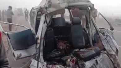 Photo of Eight killed after bus hits van in Rajasthan's Churu