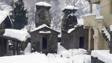Photo of Chamoli lashed with heavy snowfall