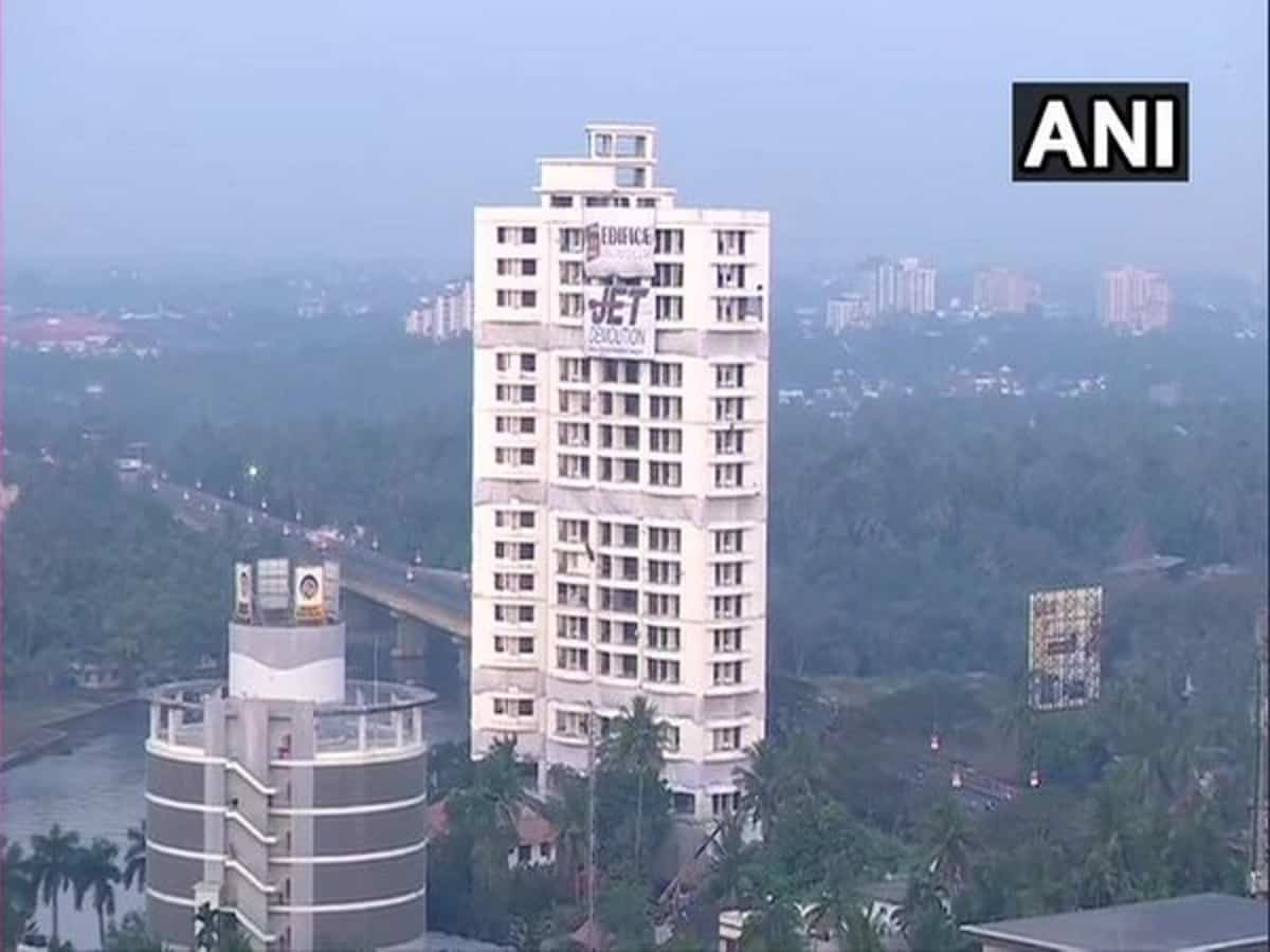Two Maradu residential apartments set to be demolished in gap of 5 minutes