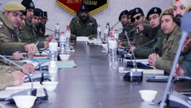 Photo of DGP Dilbag Singh reviews law and order situation in J-K