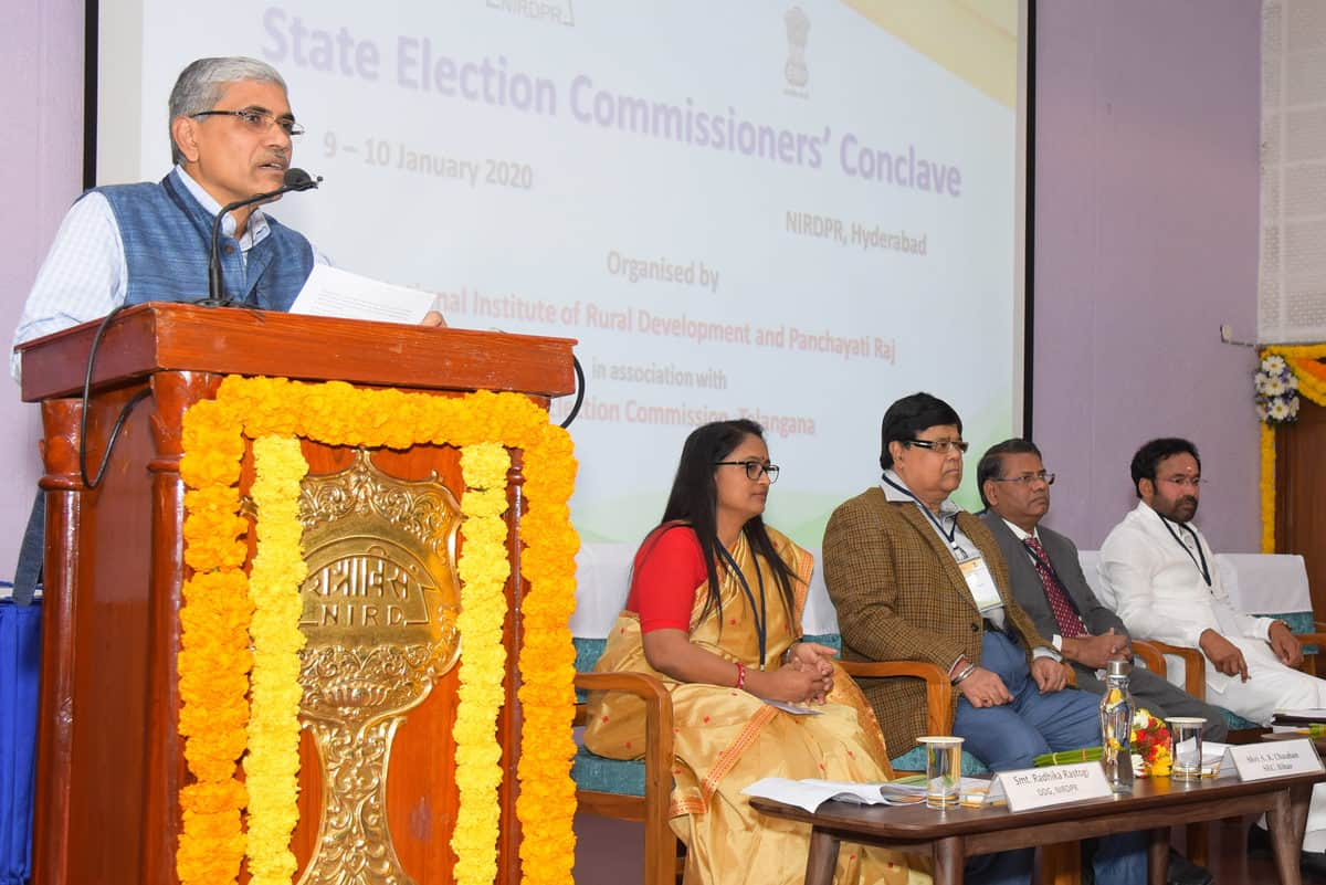 NIRDPR hosts conclave on All India State Election Commissioners'
