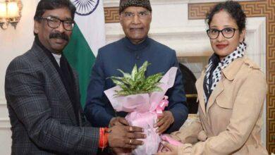 Photo of Jharkhand CM meets President Kovind in Delhi