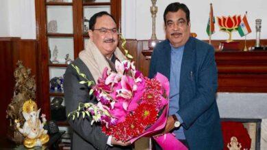 Photo of BJP president JP Nadda meets Union Minister Nitin Gadkari
