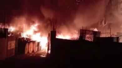 Photo of BSNL store catches fire in Uttar Pradesh's Jaunpur
