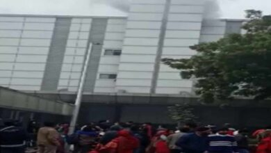 Photo of Fire breaks out at Noida's ESIC hospital, 3 fire tenders on spot