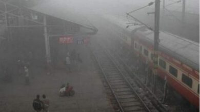 Photo of 12 trains delayed due to low visibility