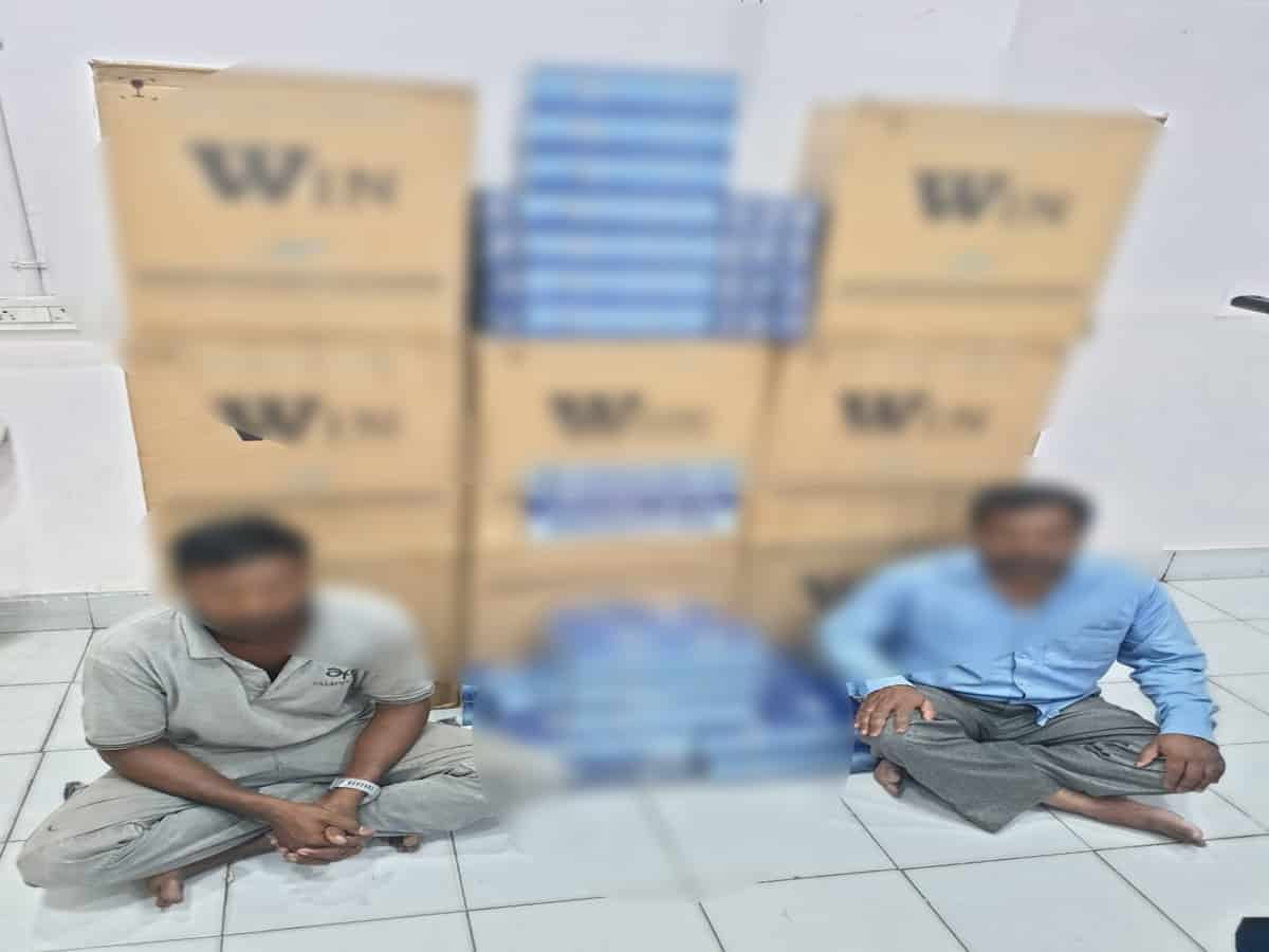 Foreign cigarettes worth Rs. 6 lakh seized, two held