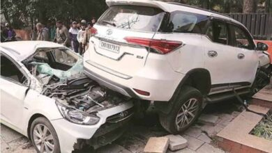 Toyota Fortuner Crashed