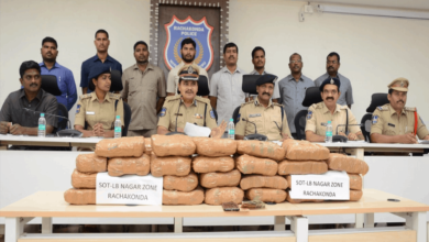 Photo of Three interstate drug peddlers held in Hyderabad