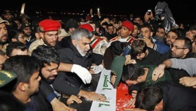 Photo of Avenge his blood: Iranians throng streets for Soleimani burial