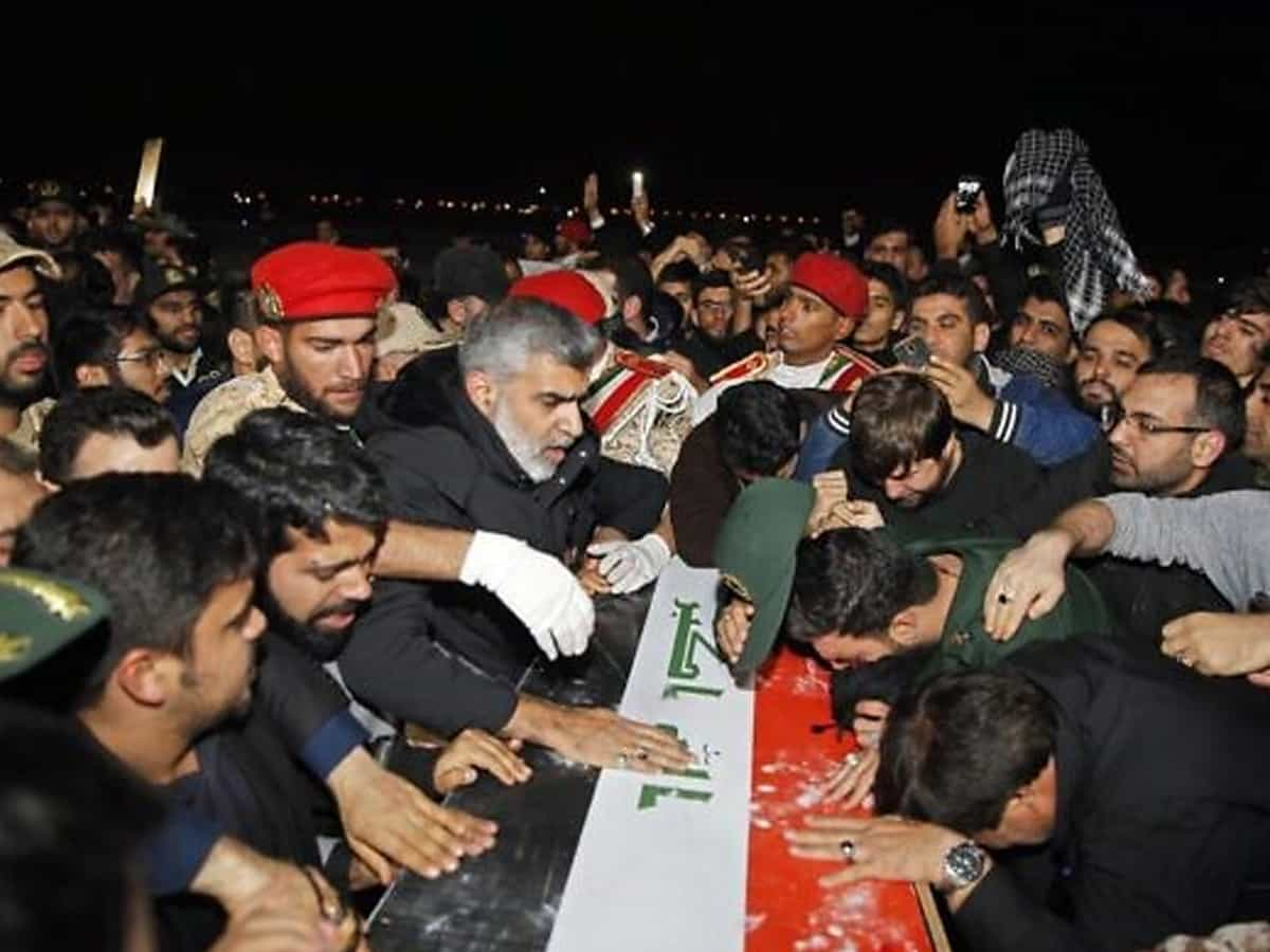 Iranians throng streets for Soleimani burial