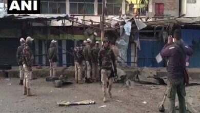 Photo of IED blast in Imphal West