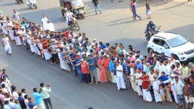 Photo of CAA-NRC: 70 lakh Keralites join 620 km human chain