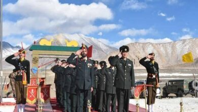 Photo of Indian and Chinese Army hold BPM in Ladakh on Republic Day