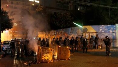 Photo of 35 people injured in clashes near Russian Embassy in Lebanon