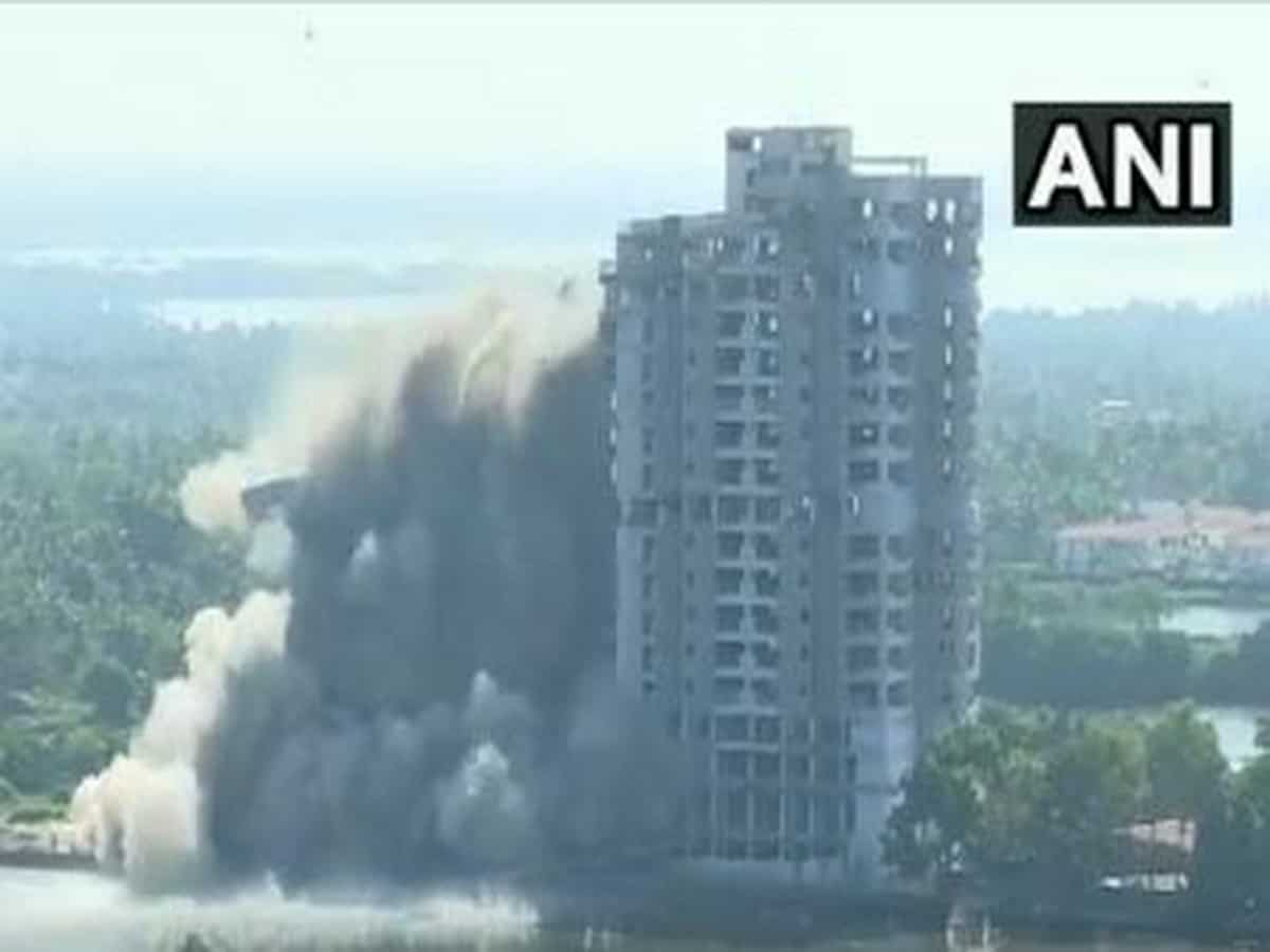 Third residential apartment demolished in Kerala