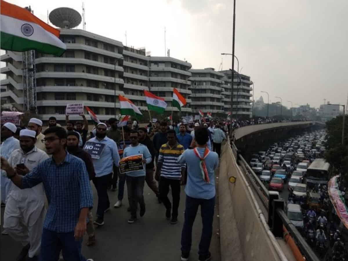 Million march in Hyderabad