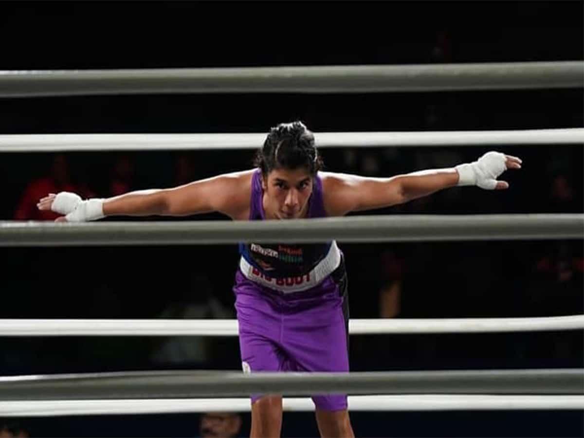 Champion Nikhat Zareen enters quarters