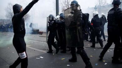Photo of Fresh protests in France against Macron's pension reform