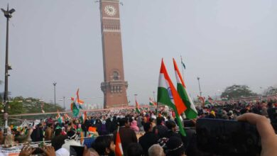 Photo of Tricolor unfurled at Clock Tower