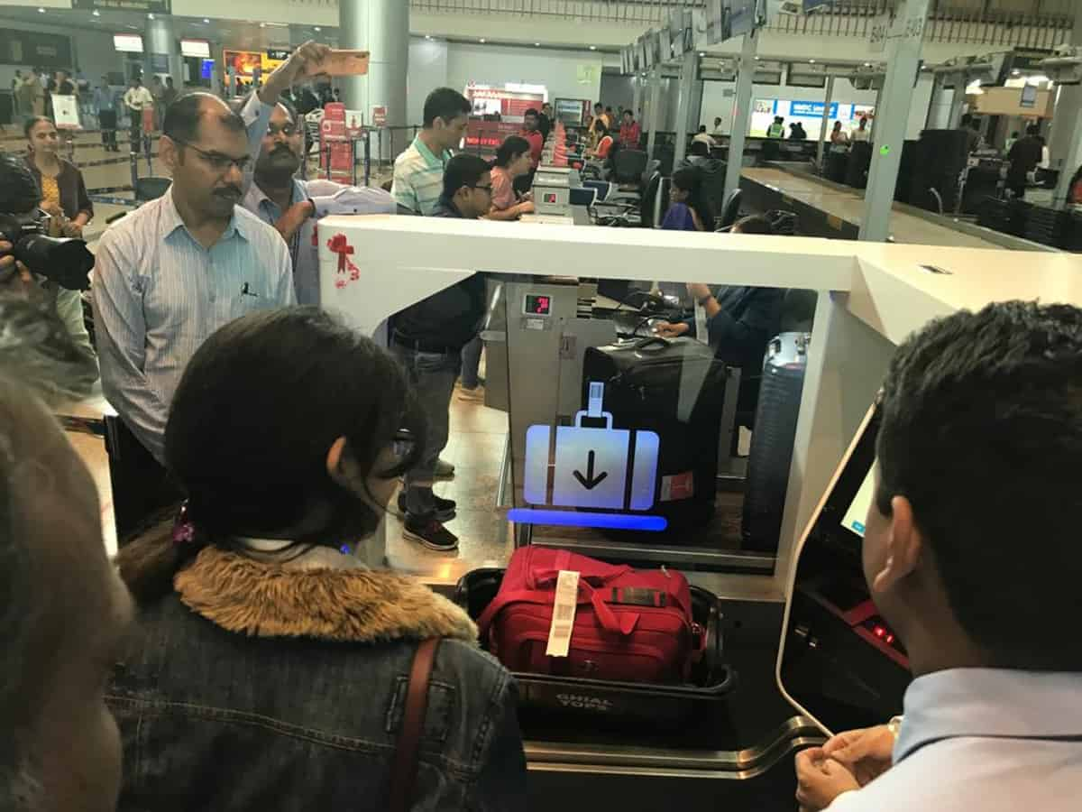 Hyderabad airport starts Self Bag Drop facility for passengers