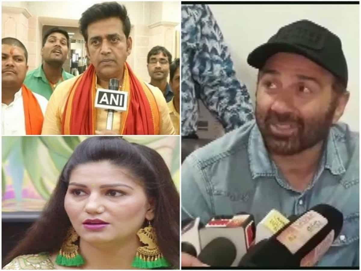 Ravi Kishen Sapna Chaudhary and Sunny Deol