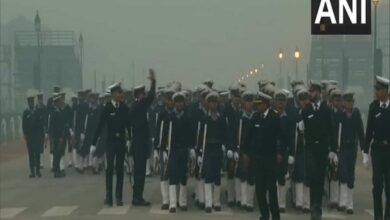 Photo of Rehearsal for R-Day parade in full swing at Rajpath
